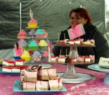 Kathren Esh with her KateE's Craftworks hand-moulded soaps at the Swan Reserve Market, Warrnambool