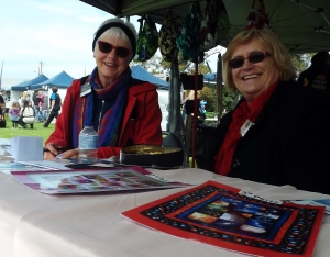 Leonna Bell and Evelyn O'Keeffe selling raffle tickets for the Kiwanis Club of Warrnambool