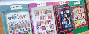 Appliqued Pathwork-quilts being raffled by the Kiwanis Club of Warrnambool