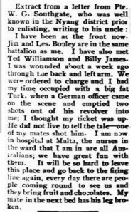 Extract from Ouyen Mail, 28 July 1918, source TROVE, NLA.