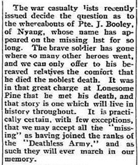 Extract from the Ouyen Mail, 31st May 1916. source: TROVE, NLA