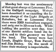 Extract from the Ouyen Mail, 9th Aug 1916. Source: TROVE, NLA.