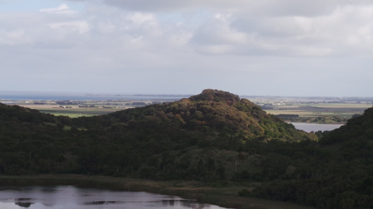 Extinct volcano Tower Hill,with Killarney and Port Fairy in the background. picture by Jenny Fawcett