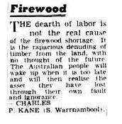 A typical letter from Charlie Kane. (source: Argus, 6 Mar,1953, TROVE, NLA)