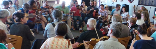 Celtic jamfest at the Port Fairy Folkie 2014. Picture by Jenny Fawcett