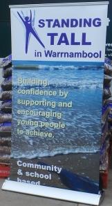 Standing Tall Warrnambool Inc Sign 2014