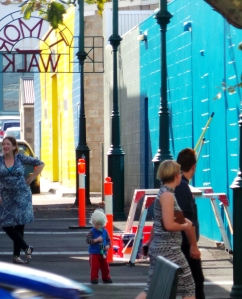 15 May 2014. Transformation of a Timor Walk wall in Warrnambool's CBD is attracting plenty of public attention. picture by Jenny Fawcett