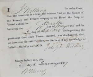 1827 Liverpool (UK) Ships' Musters