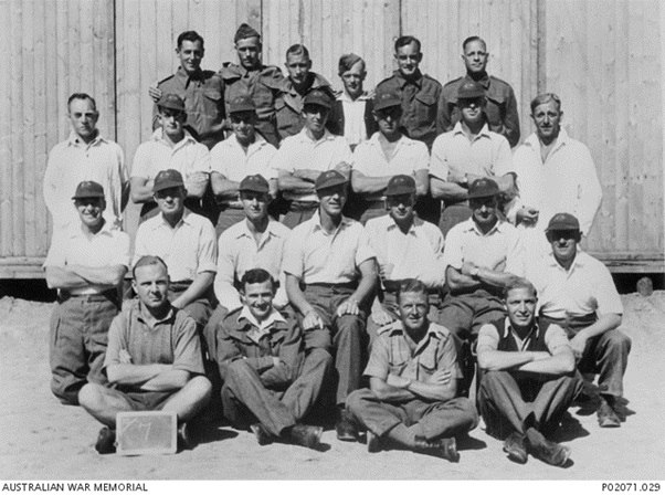 Photo from Australia's War Memorial of cricket playing POWS at Stalag 383.