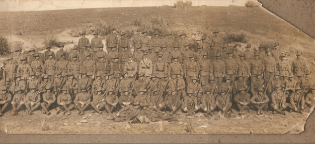 photo believed to be the 3rd Reinforcements, 14th Battalion AIF c 1914-1915,   photo source: J. Fawcett 2014