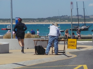 Artist Tim Walker summer work at Warrnambool. picture by J. Fawcett Jan 12th 2015