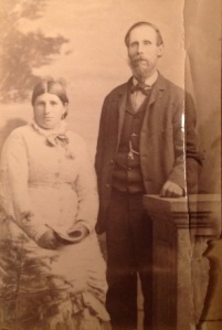 Photo believed to be Arthur Bushby and wife. from Lizzie's Album courtesy of Corlette family.