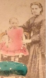 Lizzie's sister Margaret Mills about 1870 in a photo taken in Ballarat with daughter Adeline (later Mrs Bedford). photo courtesy of Corlette family