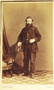 Photo marked Mr William McCafferty by FLINTOFF Photographers, Ballarat, thought to be Andrew Davidson Mills. From Lizzie's Album courtesy of Corlette family.