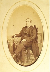 Photo of mystery priest possibly taken Ireland. from Lizzie's Album. Photo courtesy of Corlette Family