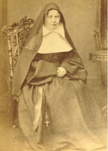 Reverend Mother S. Anne's is noted on the back of one of Lizzie's photos, taken by photographer James Harrison, Leed. photo courtesy Corlette family
