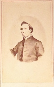 Portrait of unnamed priest by COOK, Cork Gallery of Art, Patrick st Cork. From Lizzie's album courtesy of Corlette family