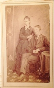 Unnamed couple from Lizzie's album. Possibly taken in Australia or N.Z. courtesy of Corlette family