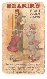 The front of James Booley's Gallipoli postcard depicts two little girls who probably reminded him of his little sisters Jean and Lin. picture by J. Fawcett 2015