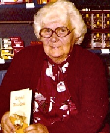 My grandmother Jean Lovell Williams (nee Booley) at the launch of her sister-in-law's story of a war bride brought to the Mallee district of Victoria. Photo from collection of late Peter Williams of Killarney.