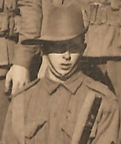 "Soldier ""2g"" from Nan's way photo has been identified as Leslie Raymond Talbot Gilbert #1560 of the 3rd 14th, AIF"