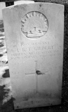 A photo of Leslie R. T Gilbert's headstone in Nunhead cemetery, London, Eng