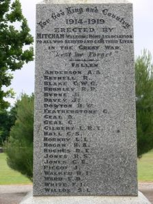 Mitcham's War Memorial honours fallen soldiers including Leslie Gilbert. photo source: