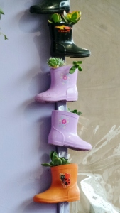 Colourful garden boots at Fun4Kids. picture by Jenny Fawcett 2015