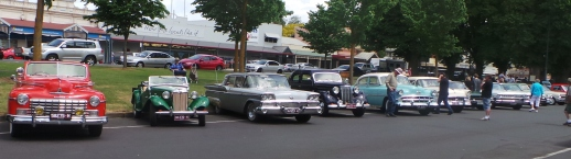 Classic Cars on display at the Camperdown Cruise Rockabilly Weekend. Picture by Jenny Fawcett 25 Oct. 2015