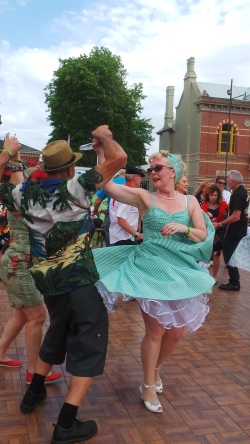 Dancers at the Camperdown Cruise Rockabilly Weekend 25 Oct. 2015. picture by J. Fawcett
