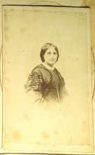 A mystery female figure in Lizzie Journeaux's album is possibly one of her sisters. Photo courtesy Corlett family 2015