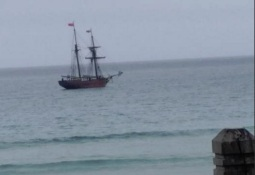 The replica ship Enterprize in Warrnambool's Lady Bay 19 Nov 2015. Picture courtesy of Jaime Williams