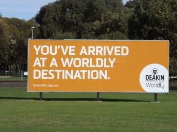 Deakin University Signage. Picture by J. Fawcett