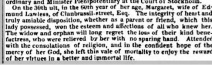 Newspaper report of the death of Margaret Lawless (1773-1833) wife of 'Edmund' of Clanbrassil-street, Dublin. (Source: Dublin Evening Mail, 9 Dec.1833., FINDMYPAST)