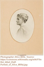 Untitled photo of photographer Alice Mills, who married artist Tom Humphrey. Source: https://commons.wikimedia.org/wiki/File:Not_titled_(Self-Portrait_of_Alice_Mills).jpg