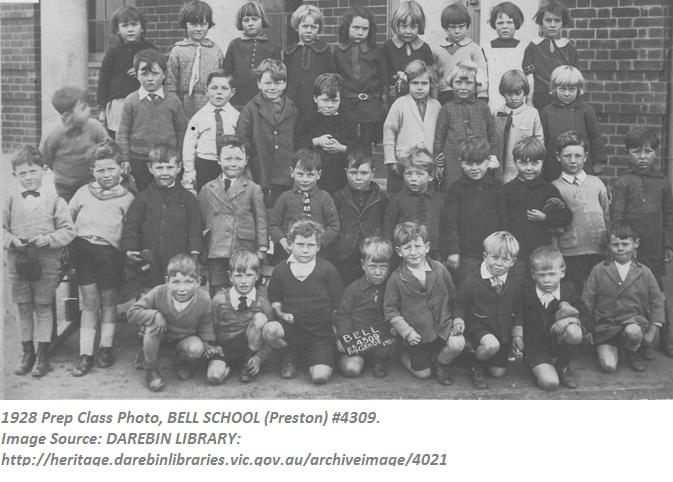 Bell School #4309 1928 Prep Class