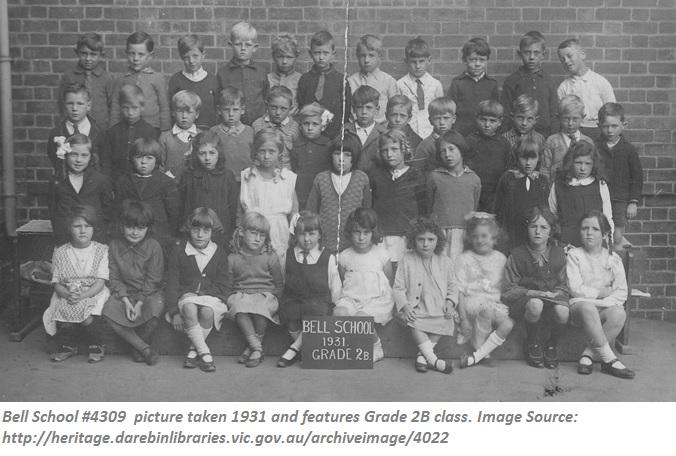Bell School #4309 1931 Grade 2 Class