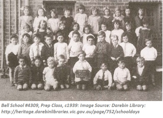 Bell school #4309 1939 Prep Class @Darebin Library