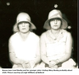 Jeane Lovel Booley and Lindsay Mary Booley
