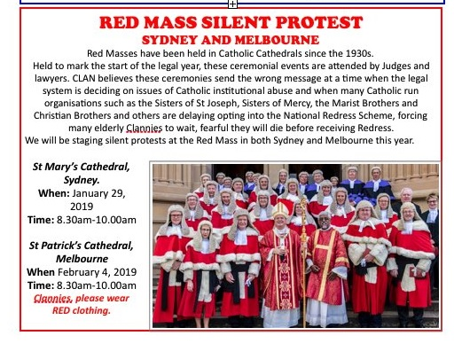 clan red mass protests flyer