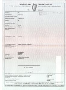mary a journeaux's death certificate 001
