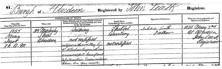 George Smith Death Certificate 1855 source National Records of Scotland.jpg 2.jpg
